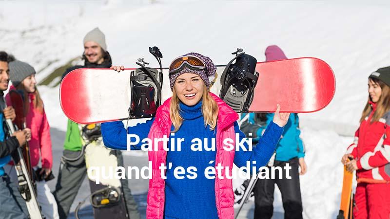 Partir au ski quand t'es étudiant