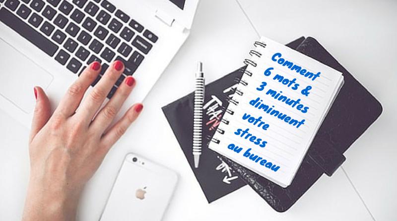 Comment 6 mots & 3 minutes diminuent votre stress au bureau !