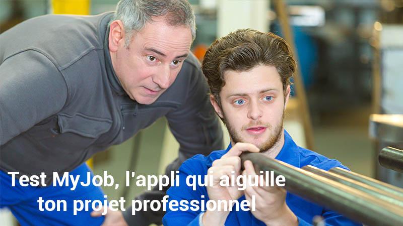 Test Mon Job, l'appli qui aiguille ton projet professionnel